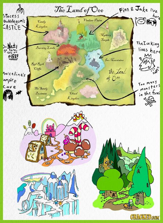 The Land of Ooo Jake Finn & live 'rincess her Bubblegum's Gendy erdent Piletine ASTLE Kinytom Myafnry Terphe Net TheIce King Do Durning Too lives here