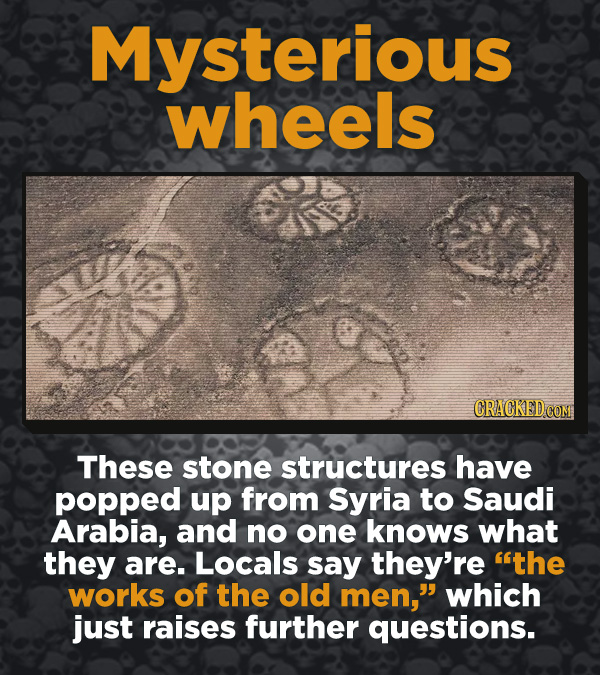 Creepy Discoveries That People Stumbled Into - These stone structures have popped up from Syria to Saudi Arabia, and no one knows what they are. Local