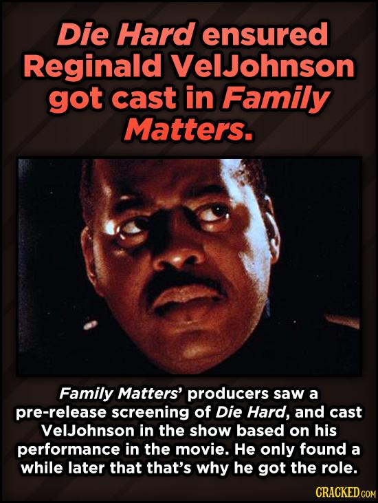 A Roundup Of Surprising, Little-Known Die Hard Facts - Die Hard ensured Reginald VelJohnson got cast