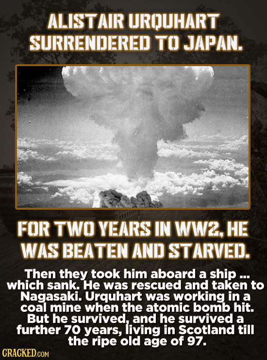 People Who Survived Completely Unsurvivable Situations