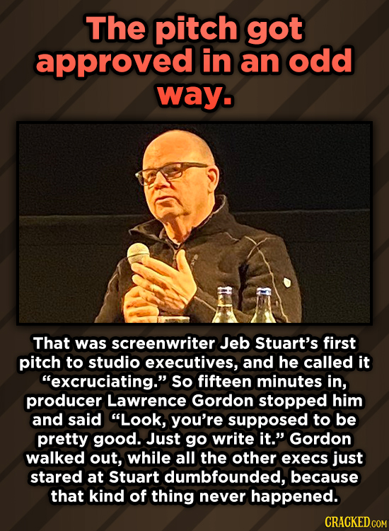A Roundup Of Surprising, Little-Known Die Hard Facts - The pitch got approved in an odd way. That was screenwriter Jeb