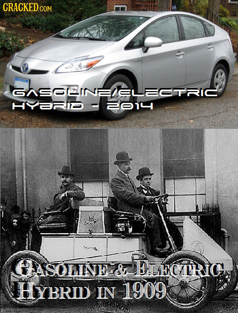 CRACKED GASOEINEELECTRIC 2014 GASOLNNE& LECARIC HYBRID IN 1909