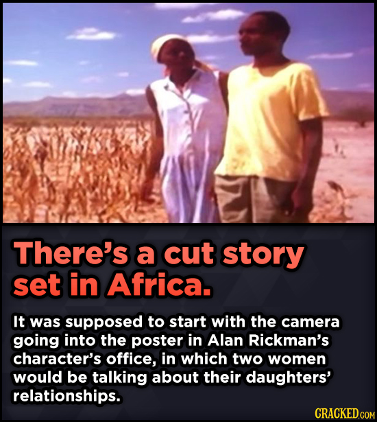 15 Weird Details About Love Actually That You Never Knew - There's a cut story set in Africa. It was supposed to start with the camera going