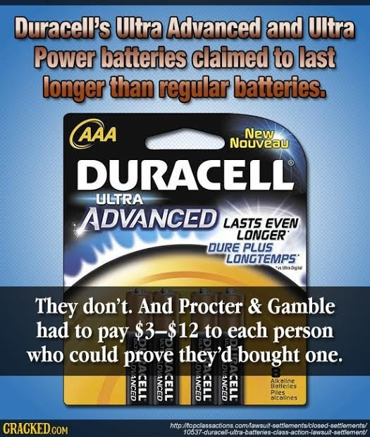 Duracell's Ultra Advanced and UItra Power batteries claimed to last longer than regular batteries. AAA New Nouveau DURACELL ULTRA ADVANCED LASTS EVEN