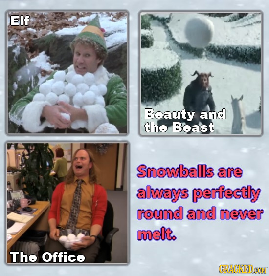 EIf Beauty and the Beast Snowballs are always perfectly round and never melt. The Office CRACKEDOON