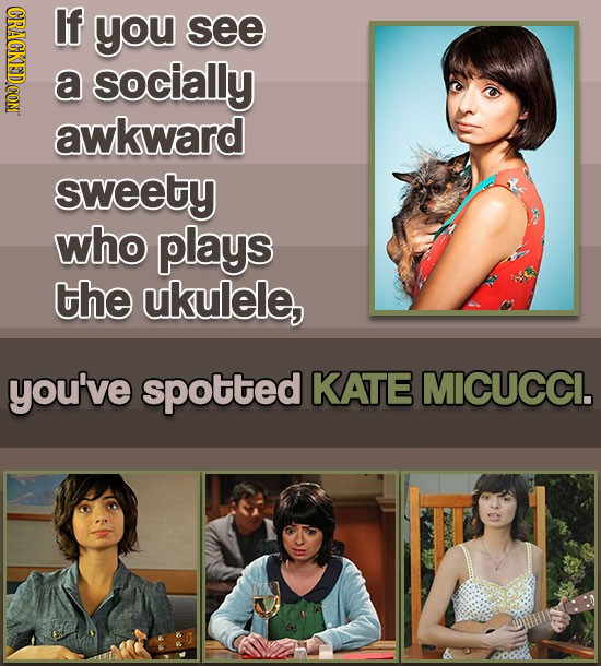 CRACKEDCON If you see a socially awkward sweety who plays the ukulele, you've spotted KATE MICUCCI.