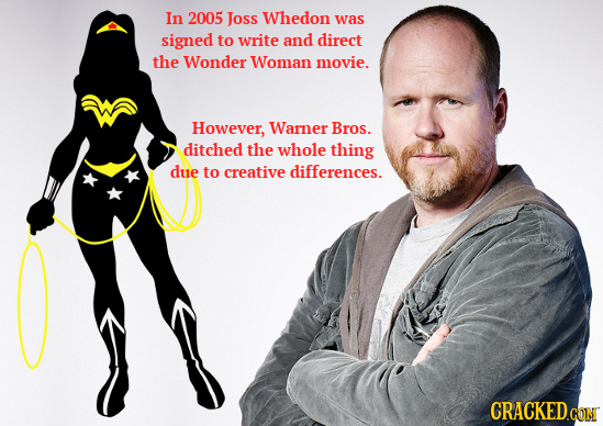 In 2005 Joss Whedon was signed to write and direct the Wonder Woman movie. However, Warner Bros. ditched the whole thing due to creative differences.