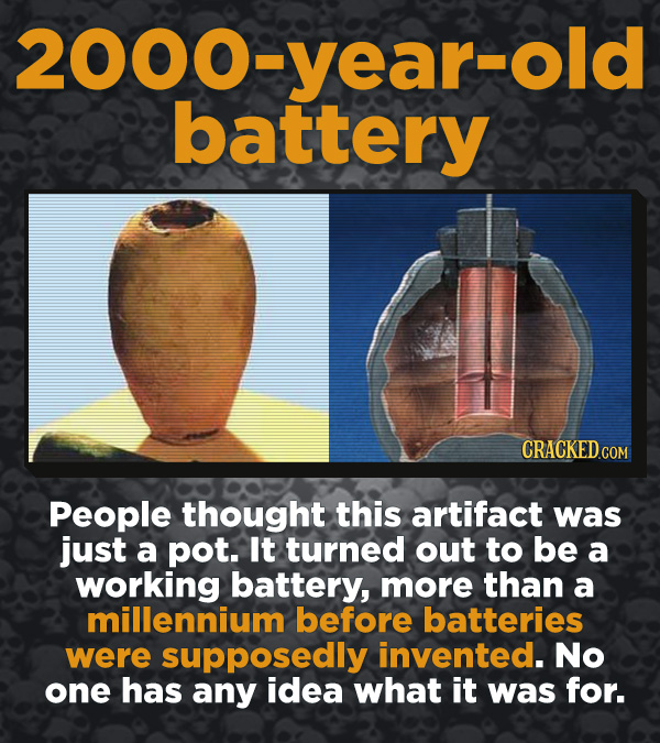 Creepy Discoveries That People Stumbled Into - People thought this artifact was just a pot. It turned out to be a working battery, more than a millenn