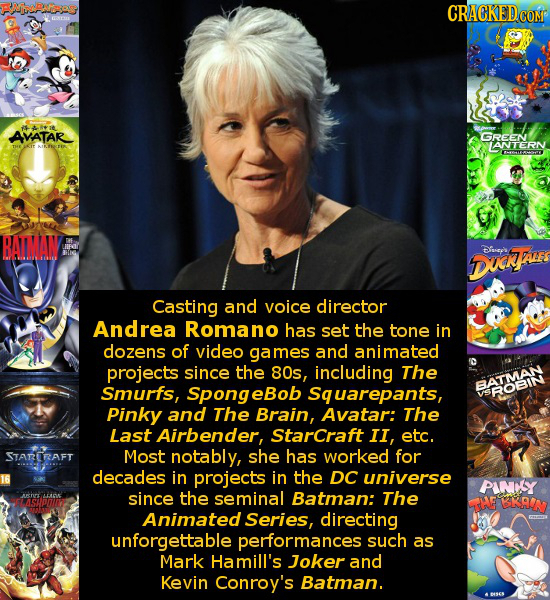 CRACKEDCO ASAIt AVATAR GREEN LANTERN Demaoy BAIMAIN Dfsepls DDUy AE Casting and voice director Andrea Romano has set the tone in dozens of video games