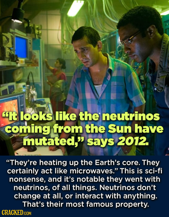 It looks like the neutrinos coming from the Sun have mutated, sAyS 2012. They're heating up the Earth's core. They certainly act like microwaves.