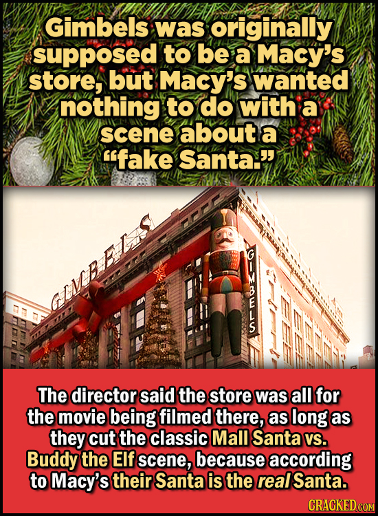 23 Son Of A Nutcracker Facts About The Christmas Classic Elf - Gimbels was originally supposed to be a Macy's store, but Macy's wanted nothing to do w