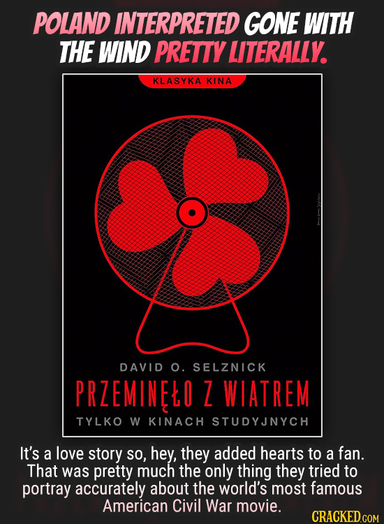 POLAND INTERPRETED GONE WITH THE WIND PRETTY LITERALLY KLASYKA KINA DAVID O. SELZNICK PRZEMINELO 7 WIATREM TYLKO W KINACH STUDYJNYCH It's a love story