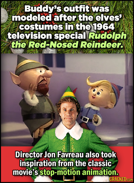 23 Son Of A Nutcracker Facts About The Christmas Classic Elf -  Buddy's outfit was modeled after the elves' costumes in the 1964 television special, R