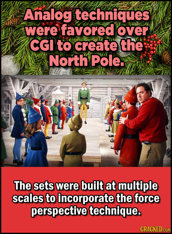23 Son Of A Nutcracker Facts About The Christmas Classic Elf - Analog techniques were favored over CGI to create the North Pole.  The sets were built