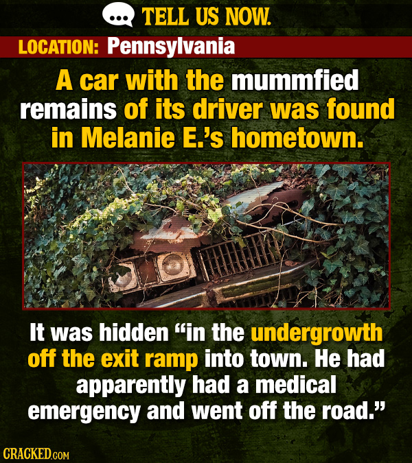 We Asked Readers For Creepy Hometown Stories. Here are 19.