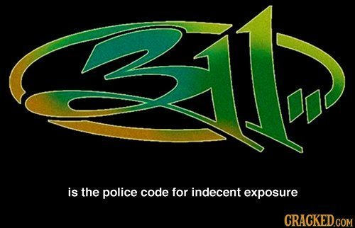 < is the police code for indecent exposure