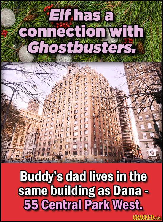 23 Son Of A Nutcracker Facts About The Christmas Classic Elf - Elf has a connection with Ghostbusters.  Buddy's dad lives in the same building as Dana