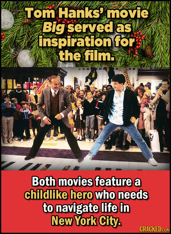 23 Son Of A Nutcracker Facts About The Christmas Classic Elf - Tom Hanks' movie Big also served as inspiration for the film.