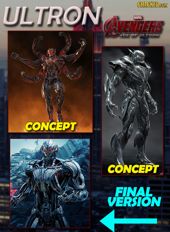 ULTRON AAVENGERS MARVEL AGE OF ULTROM CONCEPT CONCEPT FINAL VERSION