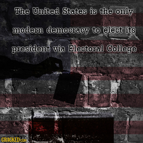 The United States is the only modern democracy to elect its president via Electoral College
