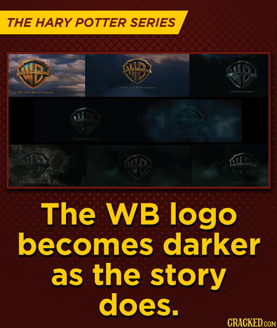 THE HARY POTTER SERIES ID MLD mlid AL LD The WB logo becomes darker as the story does.