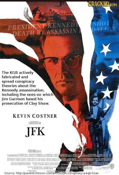 CRACKED COM PRESIDNT KENNEDY SHOT Datlis DEATH ASSASSIN The KGB actively fabricated and spread conspiracy theories about the Kennedy assassination, in