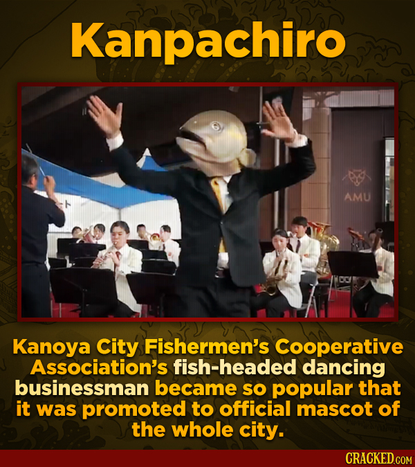 Kanpachiro Amu Kanoya City Fishermen's Cooperative Association's fish-headed dancing businessman became sO popular that it was promoted to official ma