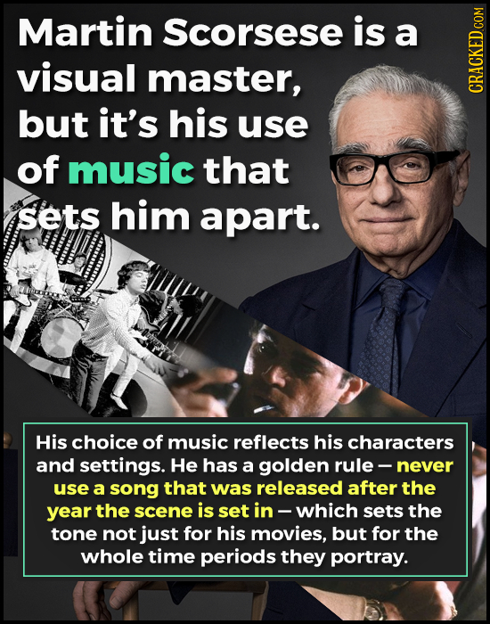 Martin Scorsese is a visual master, CRACKEDC but it's his use of music that sets him apart. His choice of music reflects his characters and settings.