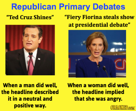 Republican Primary Debates Ted Cruz Shines Fiery Fiorina steals show at presidential debate When a man did well, When a woman did well, the headli