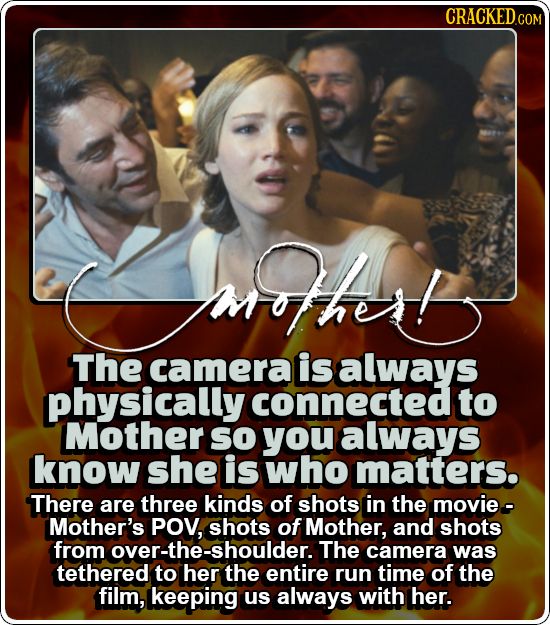 CRACKEDcO COM ha The camera is always physically connected to Mother SO you always know she is who matters. There are three kinds of shots in the movi