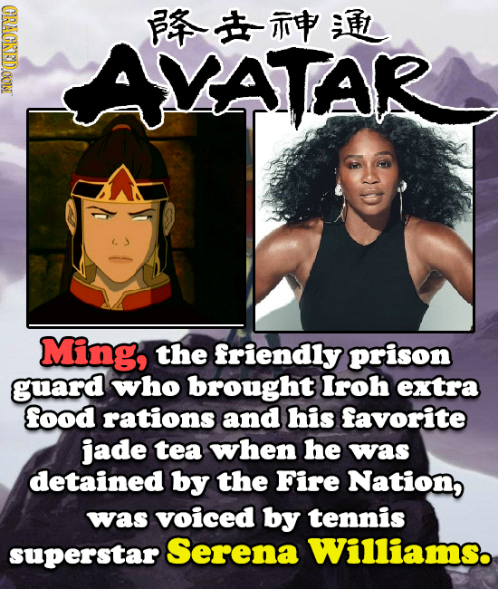 CRACKEDOON F VATAR Ming, the friendly prison guard who brought Iroh extra food rations and his favorite jade tea when he was detained by the Fire Nati