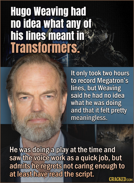 15 Actors Who Were Completely In The Dark About The Movies They Were Making