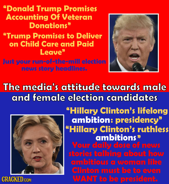 Donald Trump Promises Accounting Of Veteran Donations Trump Promises to Deliver on Child Care and Paid Leave Just your run#ofthe=mill election new