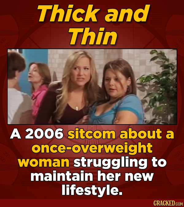Thick and Thin A 2006 sitcom about a once- once-overweight woman struggling to maintain her new lifestyle.