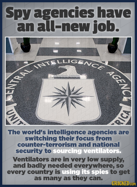 Spy agencies have an l-new job. InTELLICENCE TRAL NY RICA The world's intelligence agencies are switching their focus from counter-terrorism and natio