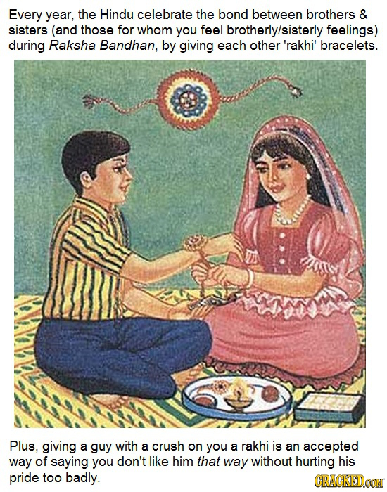 Every year, the Hindu celebrate the bond between brothers & sisters (and those for whom you feel brotherly/sisterly feelings) during Raksha Bandhan, b