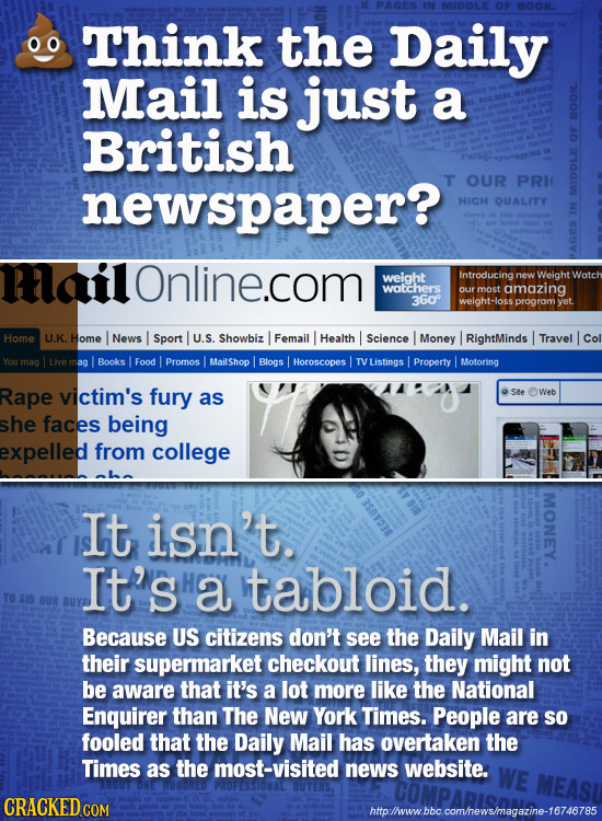 MIDDLE OF BOON. Think the Daily Mail is just a British BOOK. newspaper? T OUR PRI HICH QUALITY MID Tlailonline.com weight Introducing new Weight watch