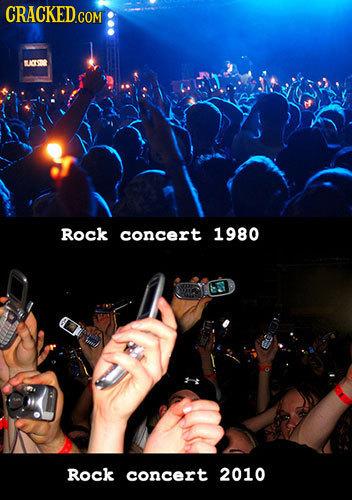 Rock concert 1980 Rock concert 2010