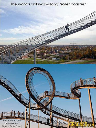 The world's first walk-along roller coaster. Heike Mutter and Ulrich Genth GRACKED COM Tiger E Turte (2011)