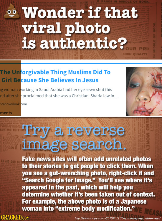 IN MDLE OF BOOK. if 00 Wonder that viral photo O is authentic?. OUR PRI HICH QUALITY MID The Unforgivable Thing Muslims Did To Girl Because She Believ
