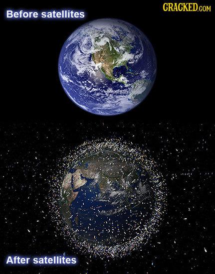 Before satellites After satellites