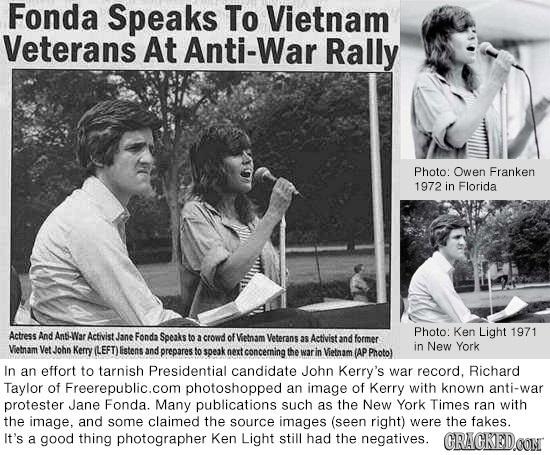 Fonda Speaks To Vietnam Veterans At Anti-War Rally Photo: Owen Franken 1972 in Florida Photo: Ken Light 1971 Actress And Ant-War Activist Jane Fonda S