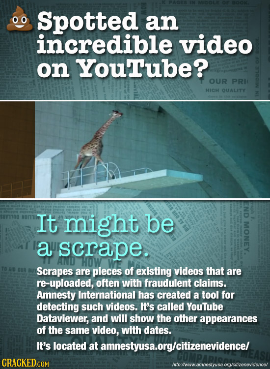 Spotted an incredible video on YouTube? OUR PRIC HICH QUALITY MID END It might be P. MONEY. a scrape. AND HOW Scrapes are pieces of existing videos th