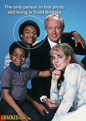 The only person in this photo still living is Todd Bridges