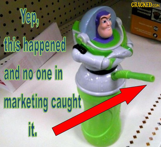 CRACKED Yep, COM this happened and no one in marketing caught it,