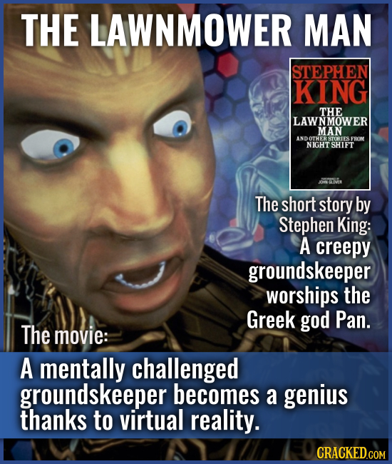 THE LAWNMOWER MAN The short story by Stephen King: A creepy groundskeeper worships the