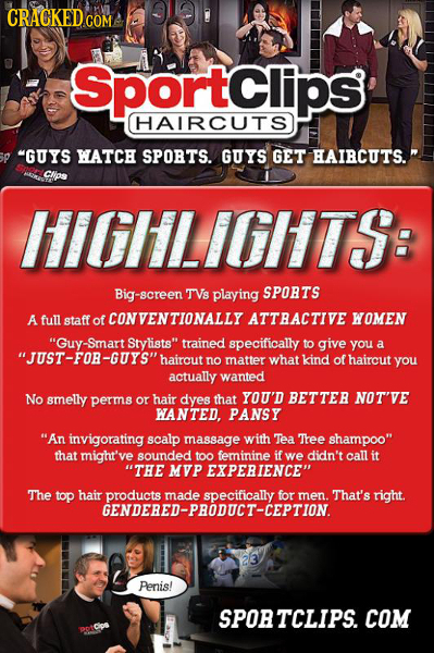 CRACKEDGO COM Sportclips HAIRCUTS GUYS WATCH SPOBTS. GUYS GET HAIBCUTS. CIos iililLilil1TS: Big-screen TVs playing SPORTS A full staff of CONVENTION