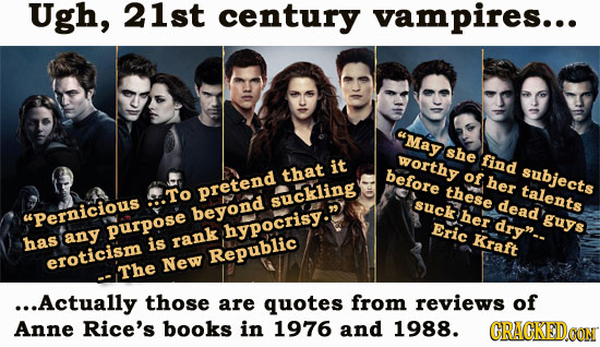 Ugh, 21st century vampires... aMay she worthy find it that before of subjects her pretend these talents To suckling suck dead Pernicions beyond her dr