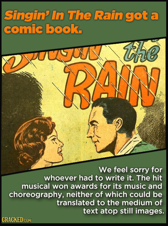 Terrible Movie Merchandise The Studios Didn't Think Through - Singin' In The Rain got a comic book.
