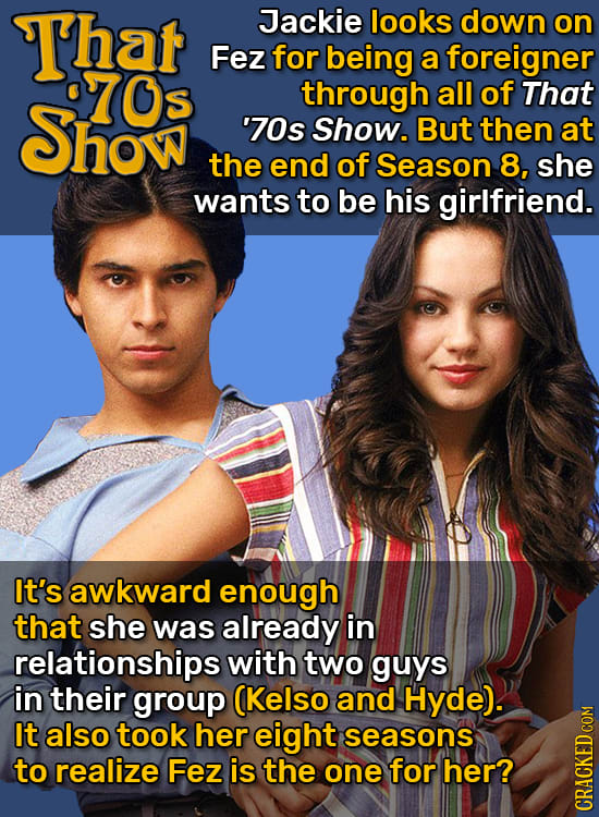 Movie / TV Relationships That Would Never Work In Reality